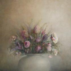 Bloemen 120 x 120 (verkocht)