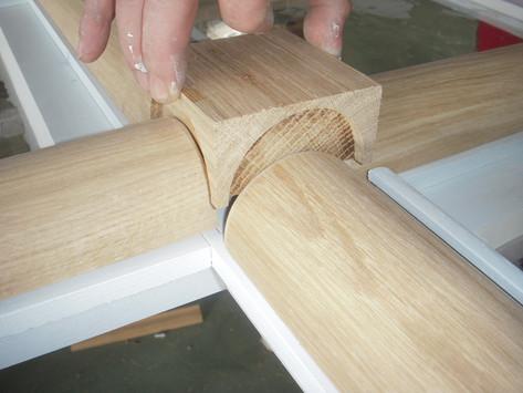 Cabochon sur croisillons de petits bois