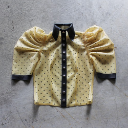 Fearless Latex Blouse with hand glued polka dots