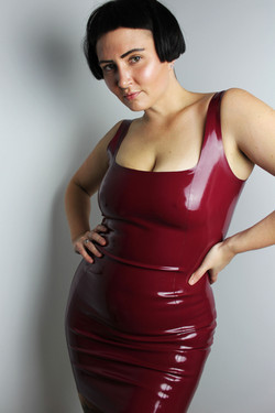 Pull On Latex Dress