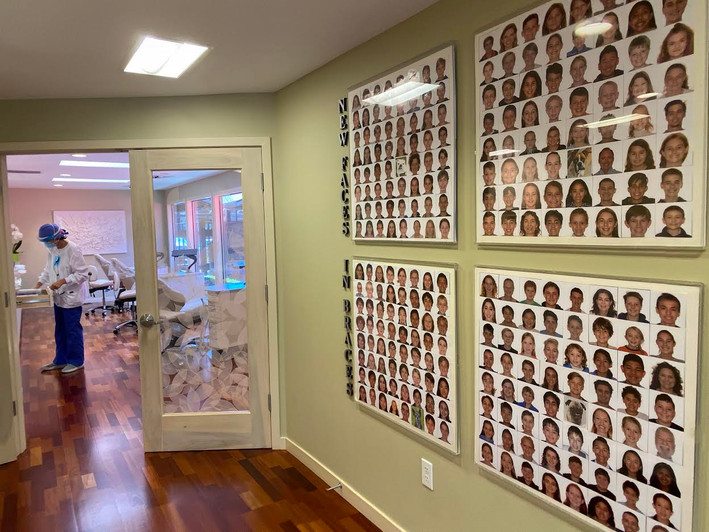 New Faces In Braces Photo Wall