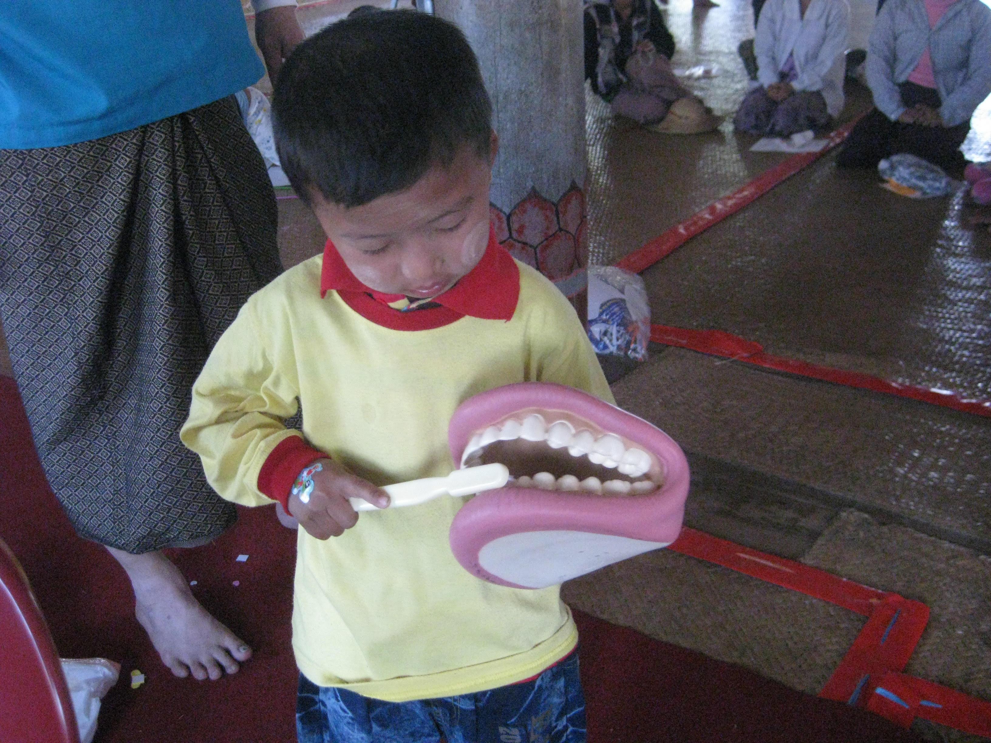 Toothbrushing demonstration!