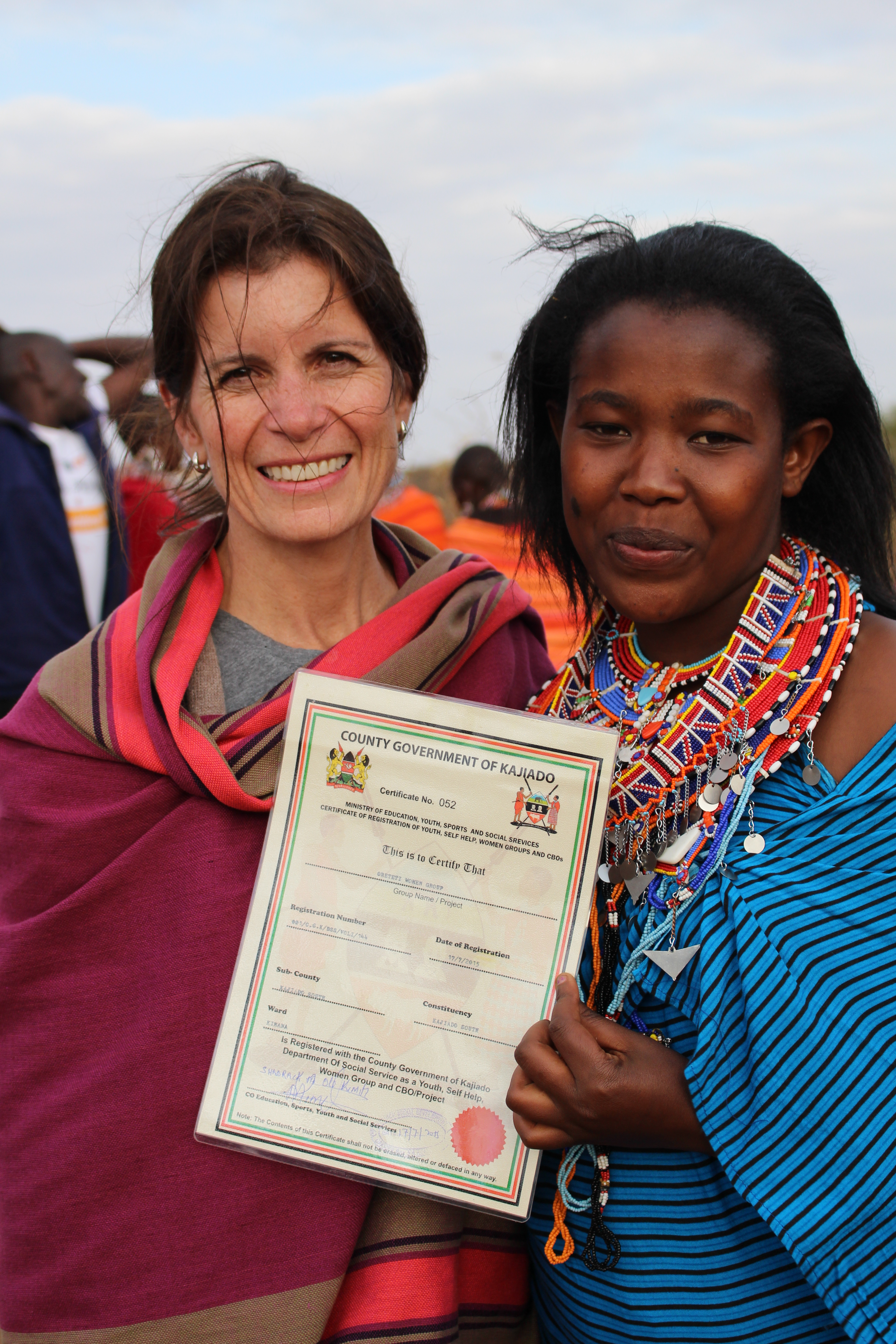 Women's group certificate