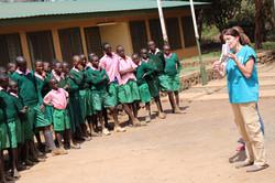Oral health education at Amboseli