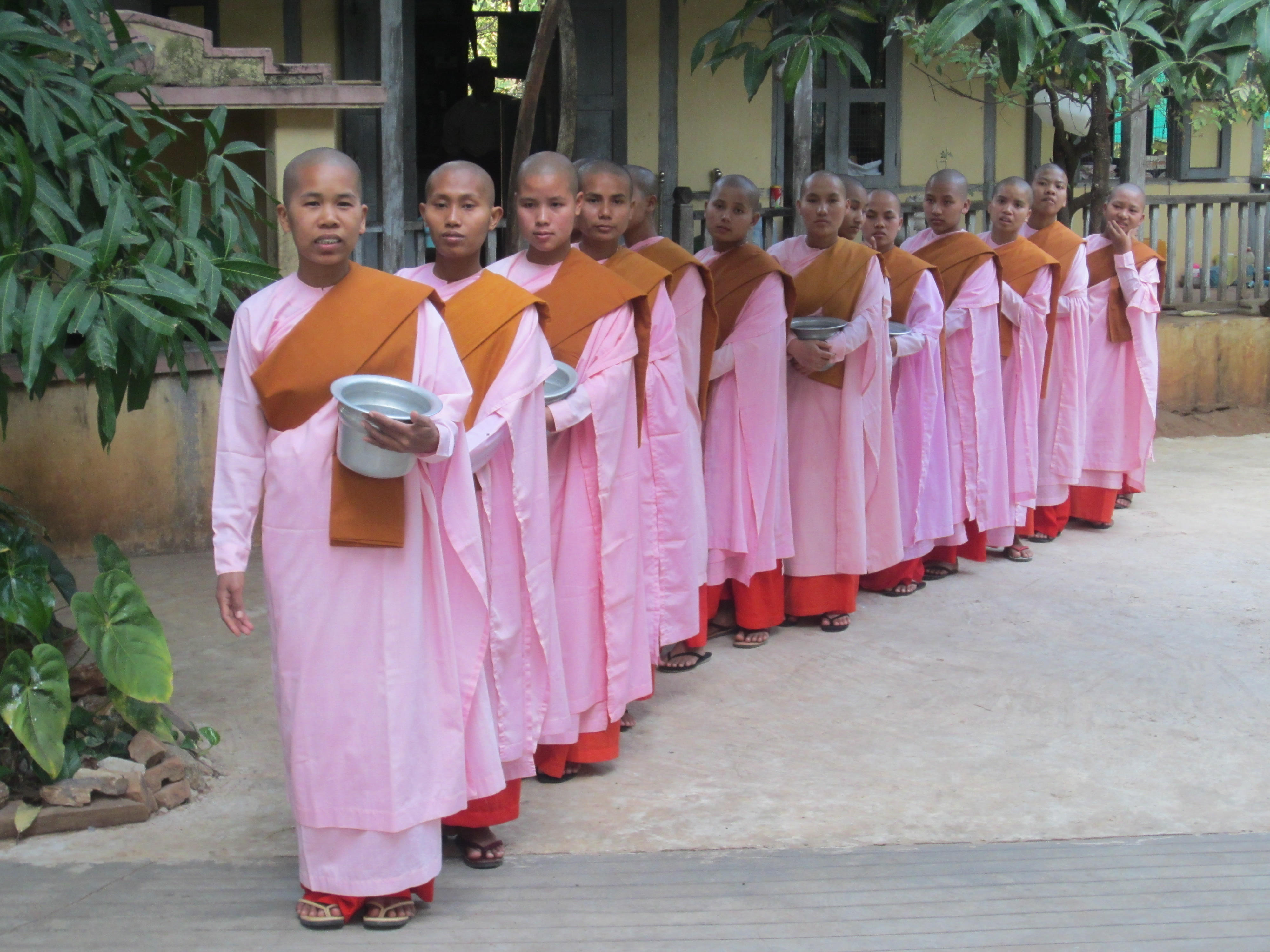 Nuns practice of daily alms