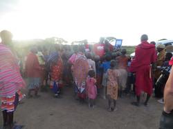 Oral health education in Maasai boma
