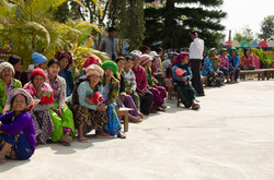 Local villagers waiting to be seen