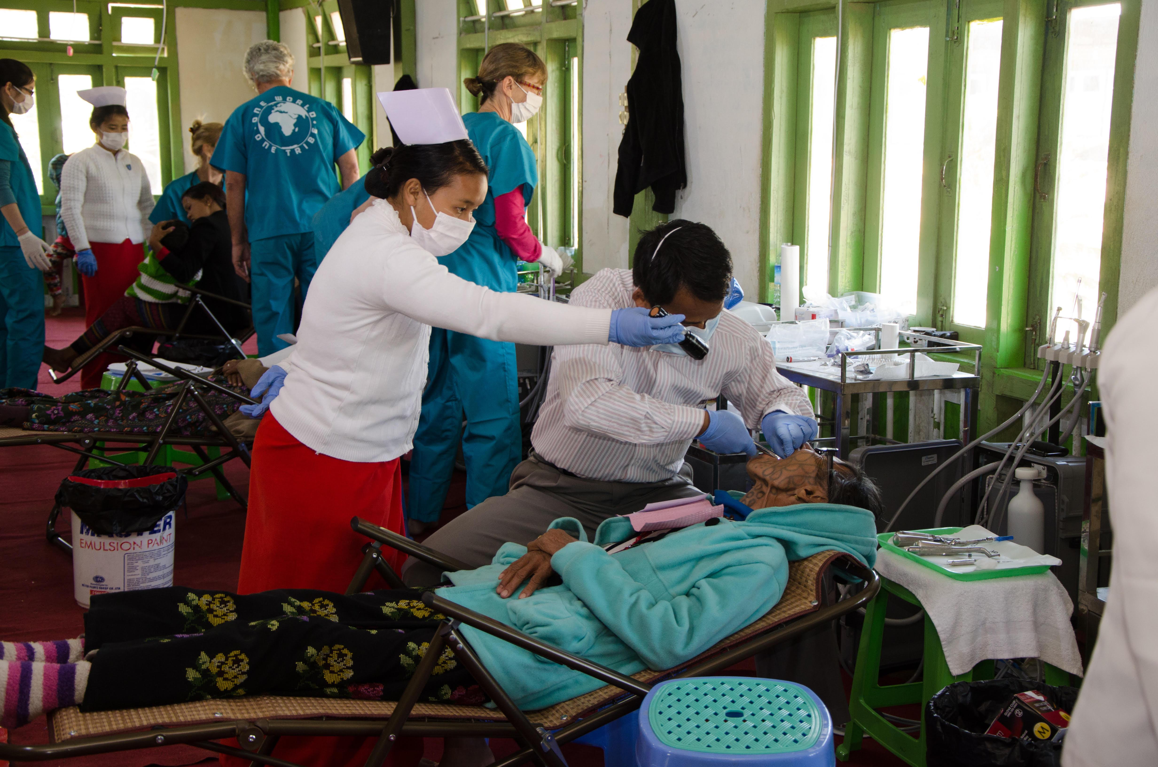 Help of local nurses and dentist