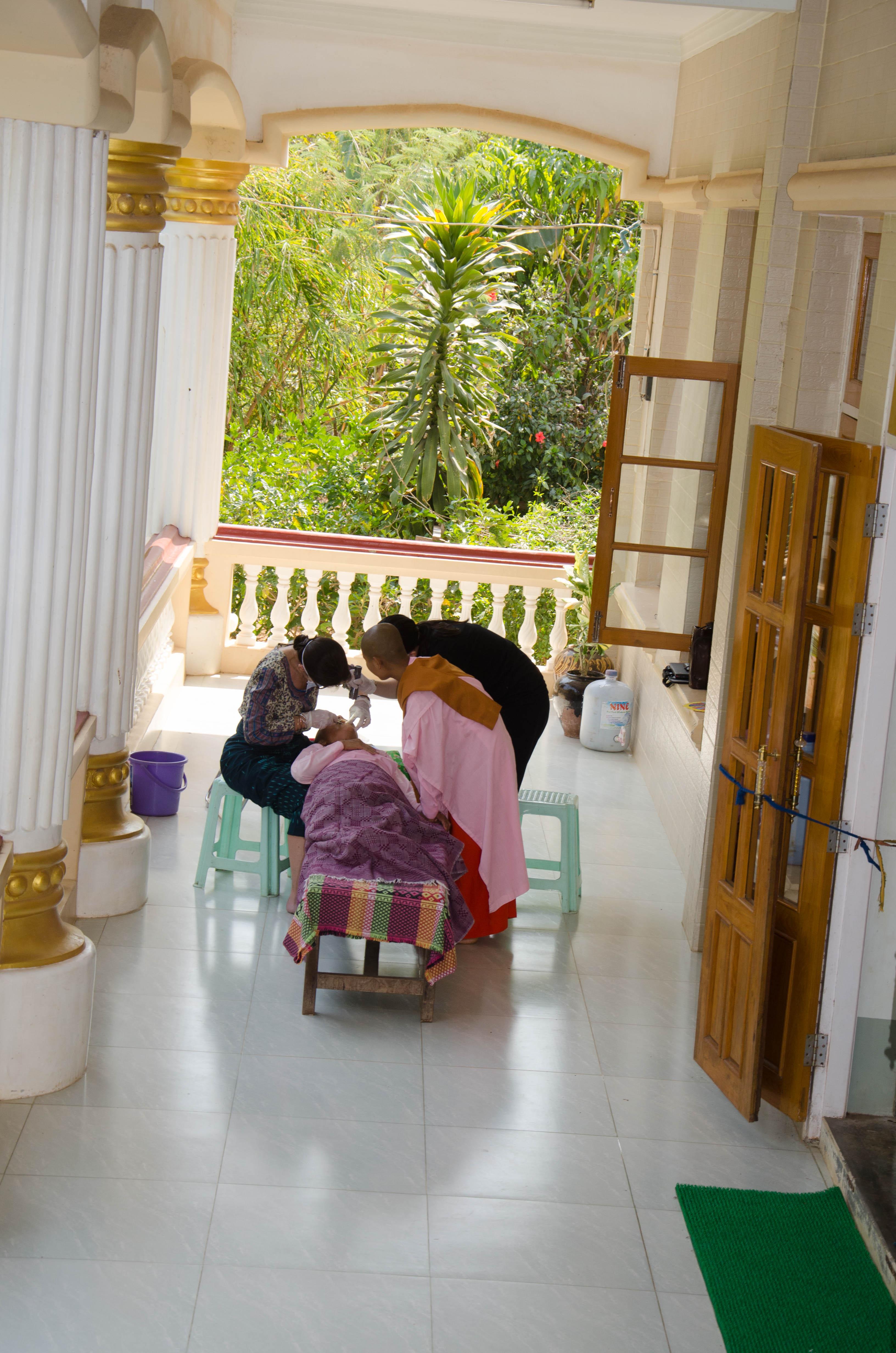 Dental treatment at Kyaukpadaung