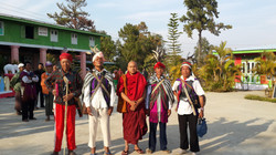 Monk and Mindat villagers