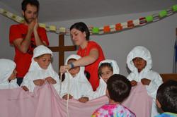 Oral health lessons at Camp No Name