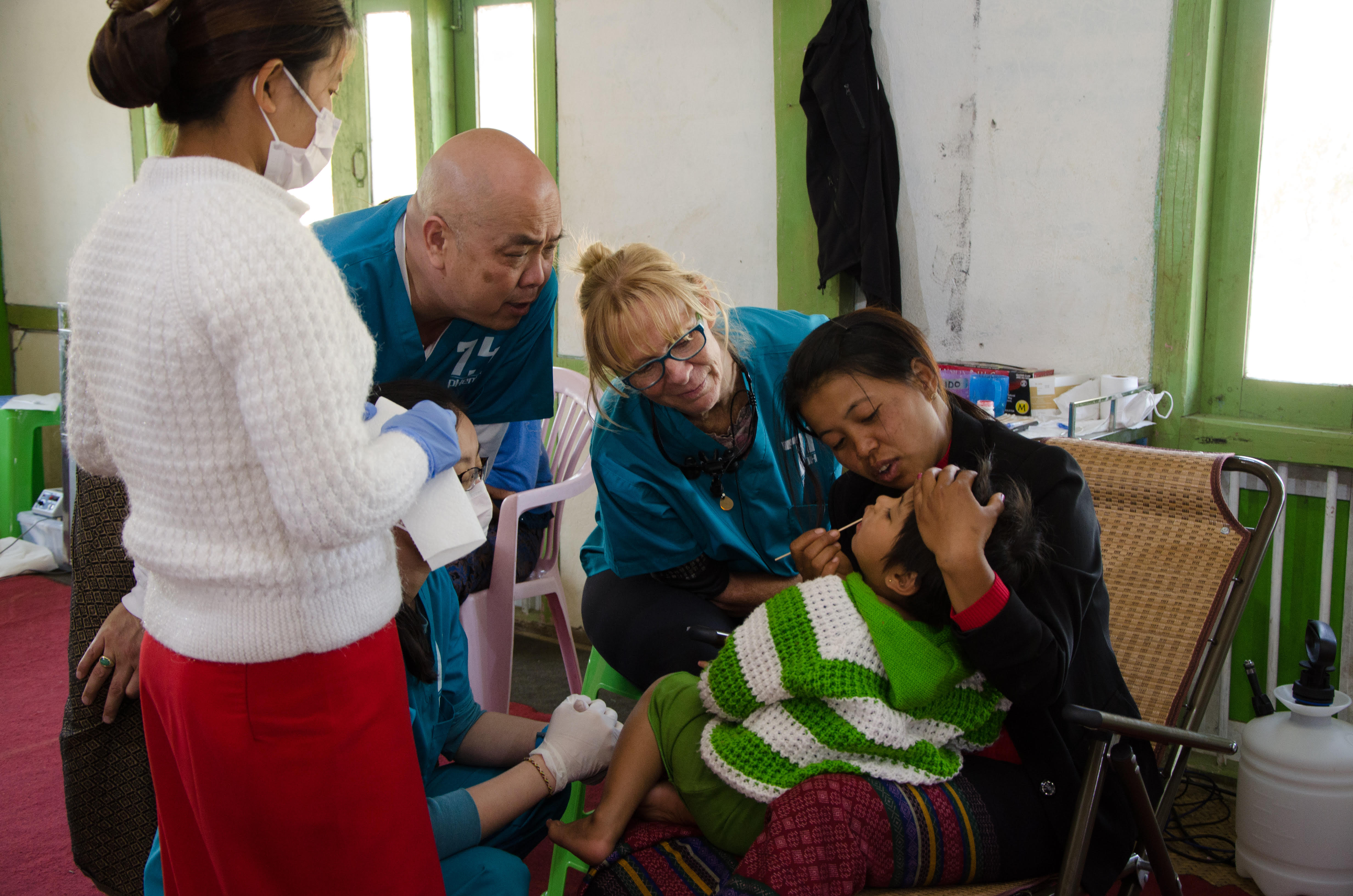 Dental triage with Charles & Pat