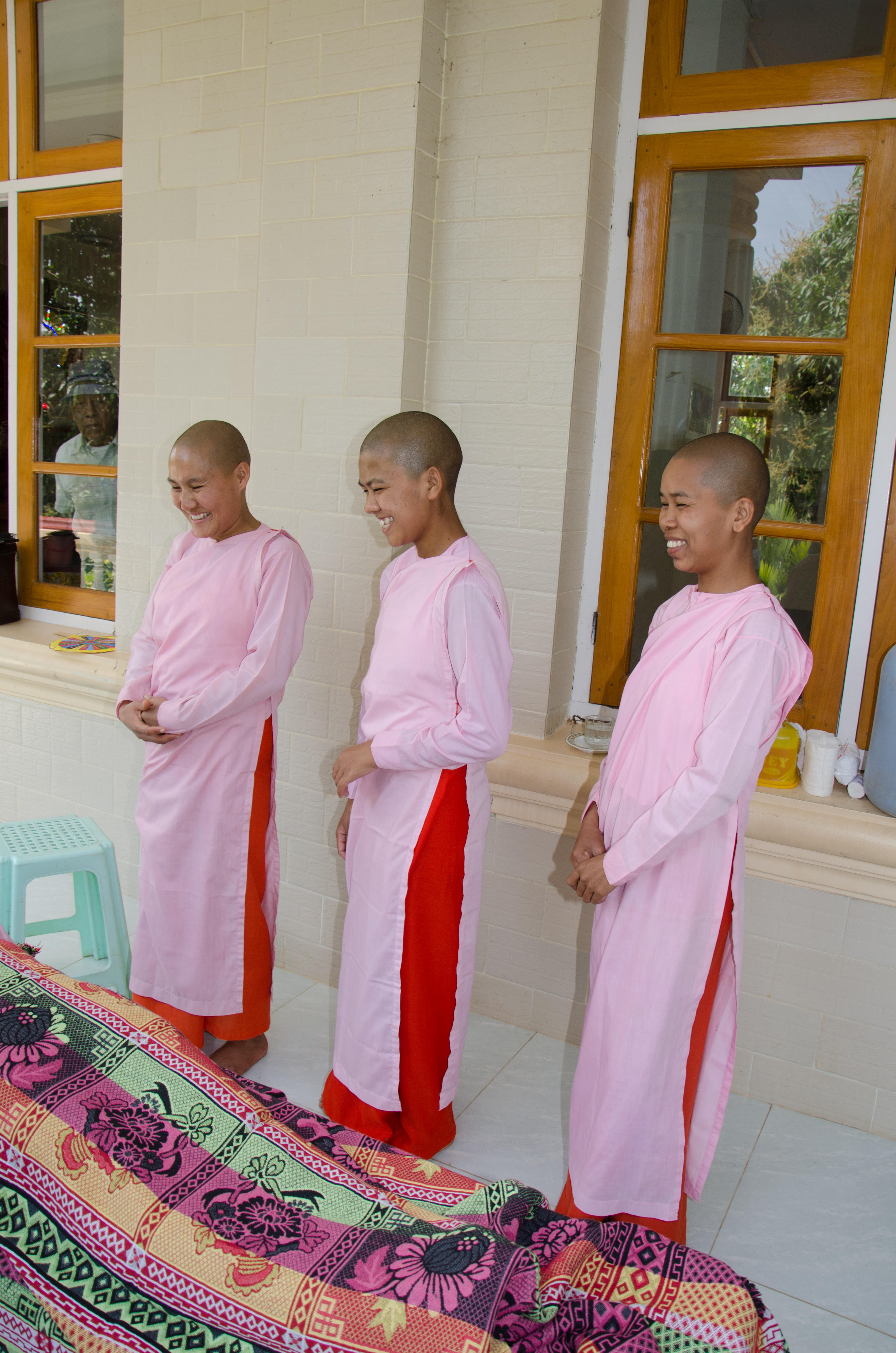 Nuns observing treatment