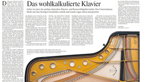Pressebericht – Das wohlkalkulierte Klavier