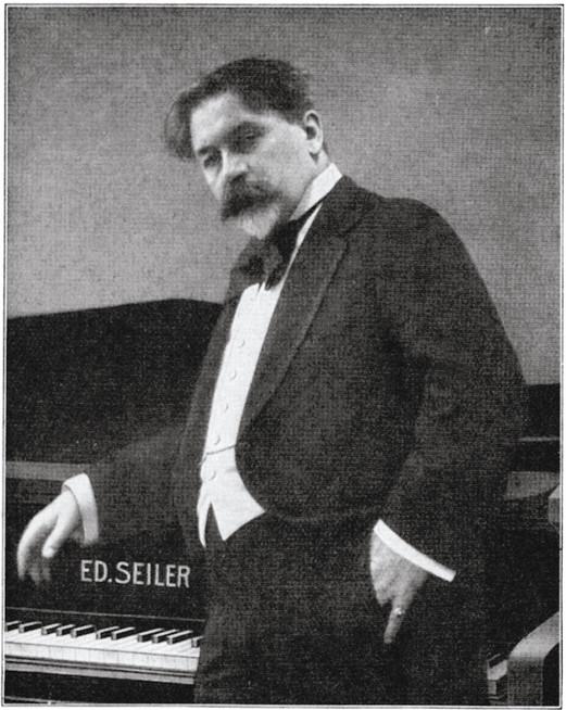 Arthur Nikisch am Seiler-Flügel