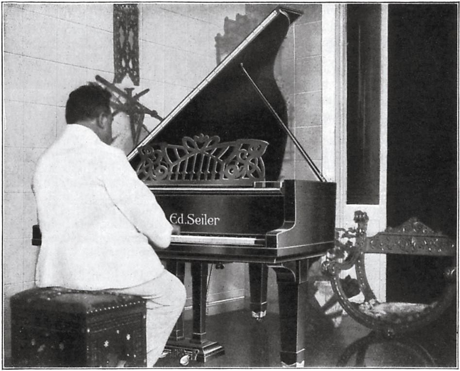 Ruggero Leoncavallo spielte mit Freude auf Seiler