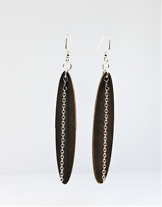 Long Leather Earring