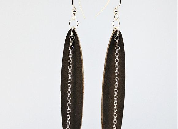 Long Leather Earring