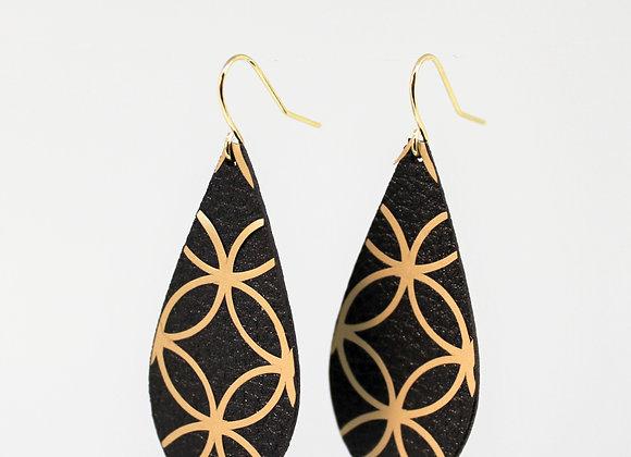 Teardrop Gold Earring