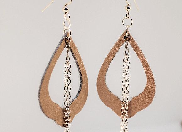 Leather Filigree Earring