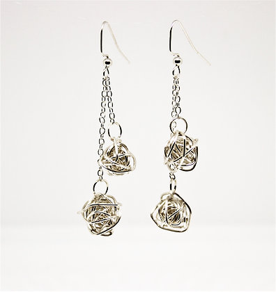 Double Wire Ball Earrings