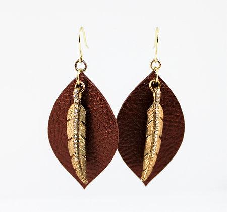 Teardrop Leaf Earring