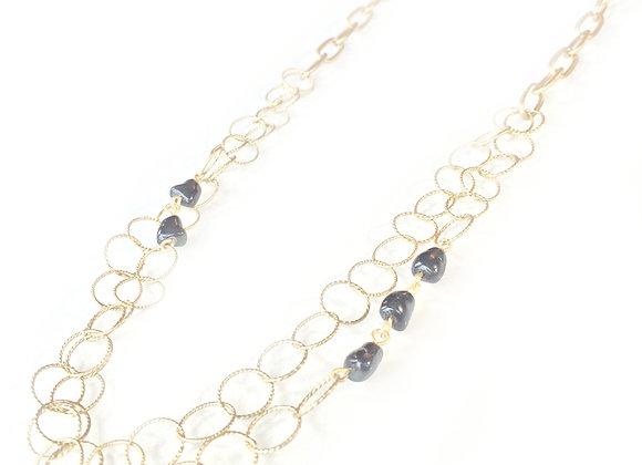 Hematitie & Gold Link Necklace