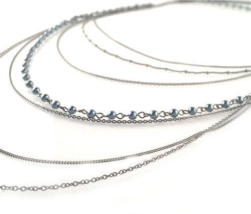 Hematite Multi Beaded Necklace
