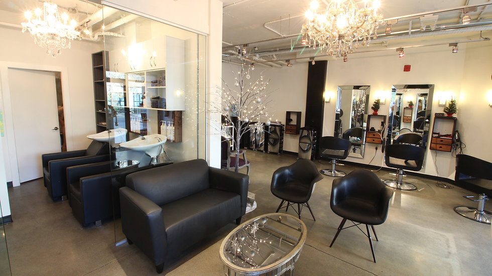 Interior image of Luv Hair Salon Victoria BC