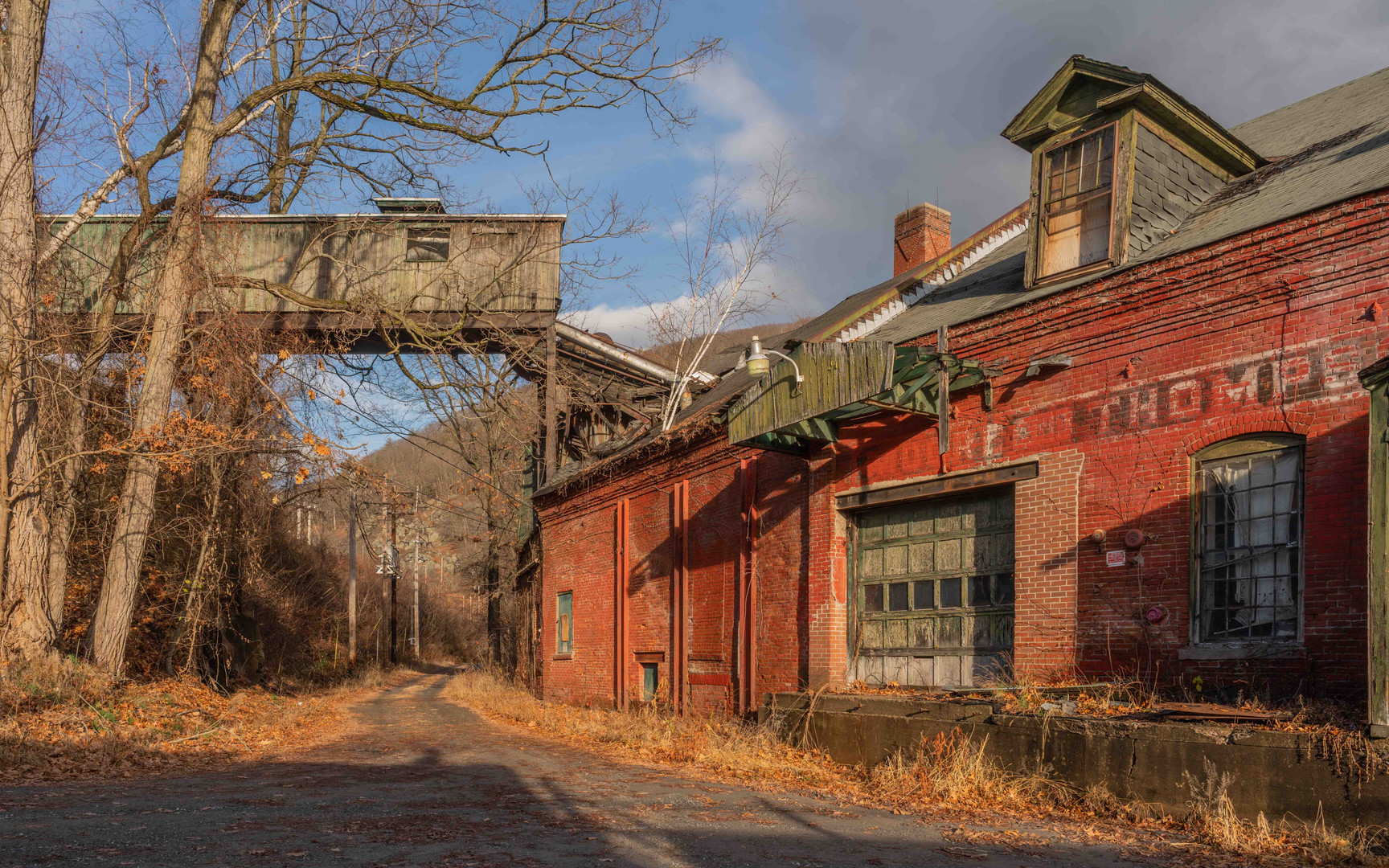 Paper Mill, Winter Light