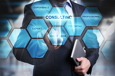 consulting concept man selecting and pre
