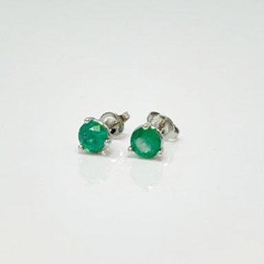 Wong Ken's Emerald Stud Earrings