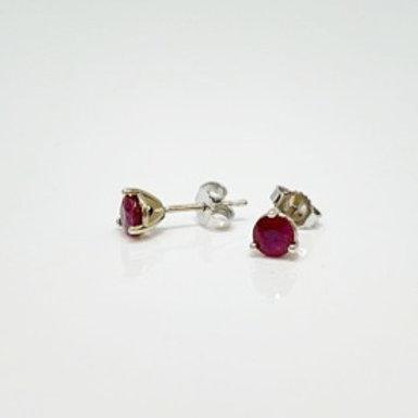 Wong Ken's Ruby Stud Earrings