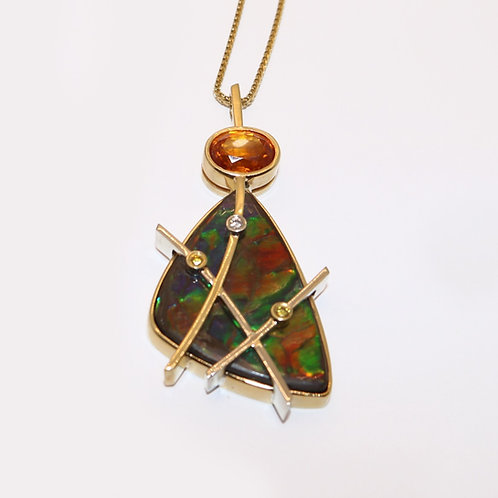 Wong Ken's Triangle Ammolite Pendant