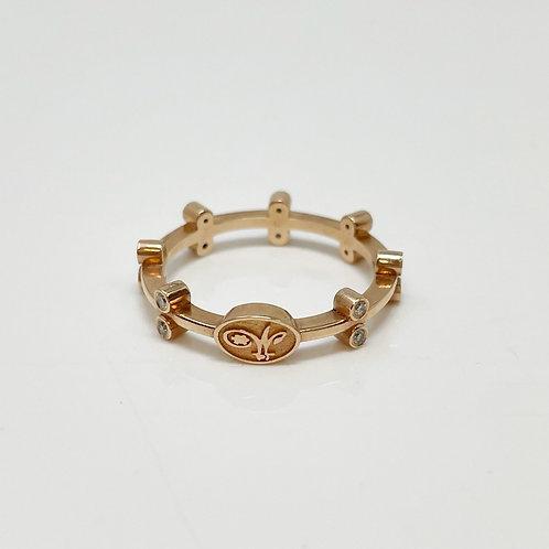 Wong Ken's Double Bezel Stacker Ring
