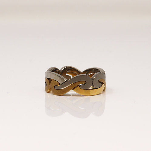 Gents Titanium & 18kt Yellow Gold Band - Norse