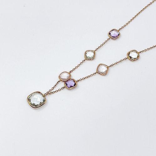 Lady's Amethyst & Quartz Necklace