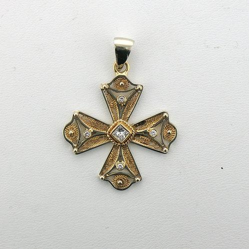 Princess Cut Diamond Aegean Cross