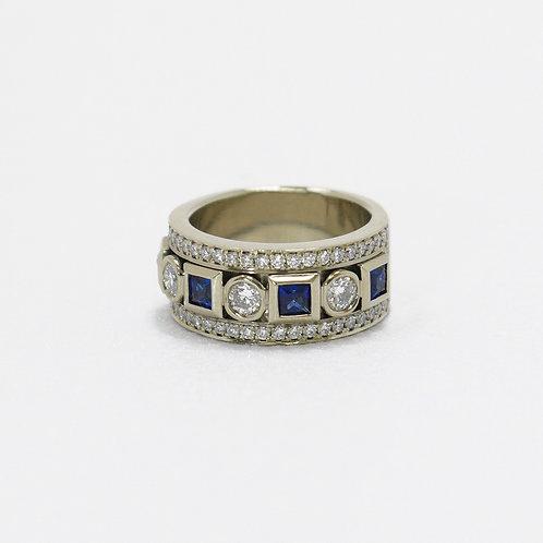 Sapphire & Diamond Band
