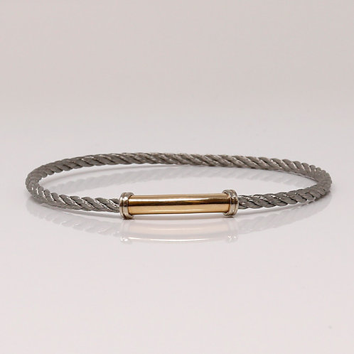 Wong Ken's Signature Twisted Steel Cable Bracelet