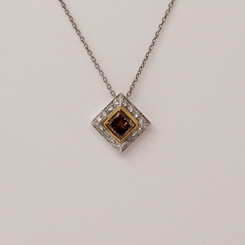 Ladies Chocolate Brown Diamond Necklace