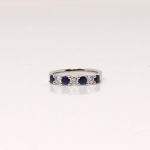 Ladies Blue Sapphire and Diamond Dress Ring