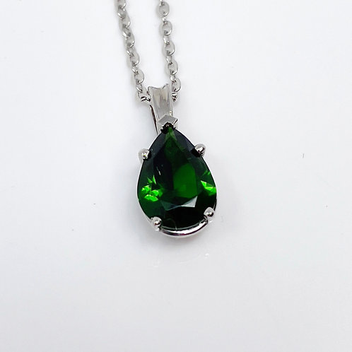 Lady's Green Tourmaline Pendant
