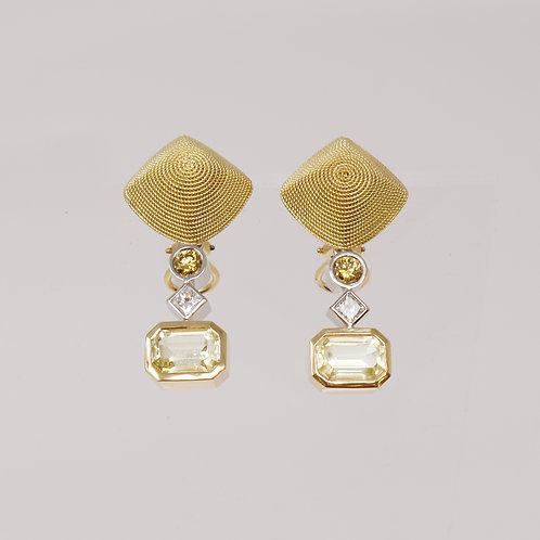 Yellow Beryl Earrings