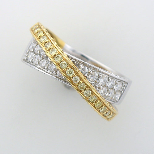 Yellow Diamond Ladies Dress Ring