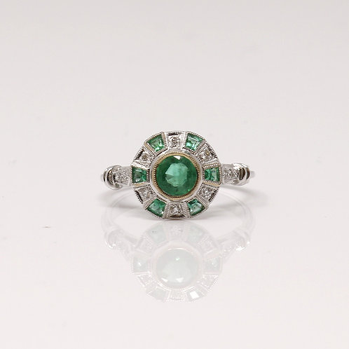 Beverley K Collection - Ladies Emerald Dress Ring
