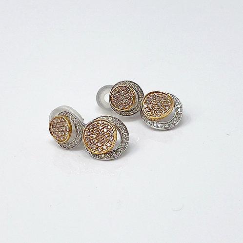 Rose & White Gold Earrings