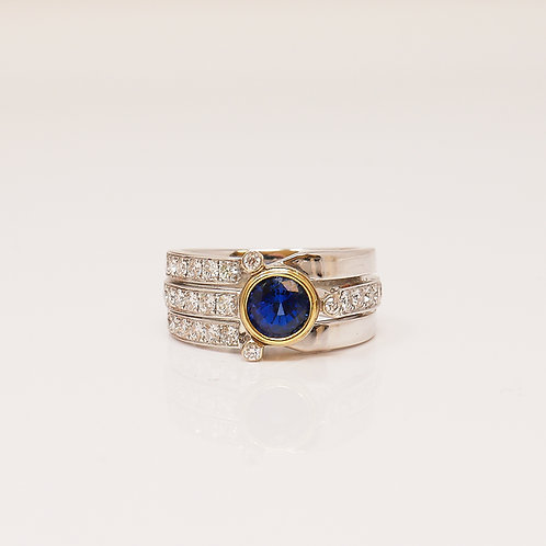 Wong Ken's Sapphire and Diamond Dress Ring