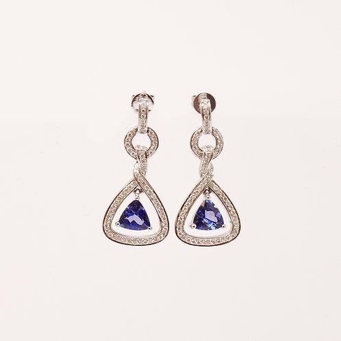 Tanzanite & Diamond Earrings