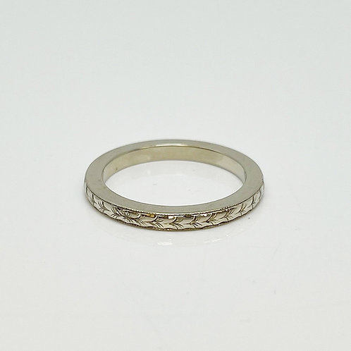 Lady's Hand Engraved Wedding Band